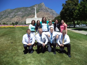 One of our temple trips while at the MTC.